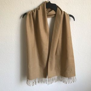 Jos. A Bank 100% Cashmere camel scarf